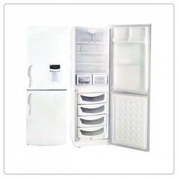 یخچال فریزر بالا و پایین الکترو استیل طرح سفید چرمی مدل ES25