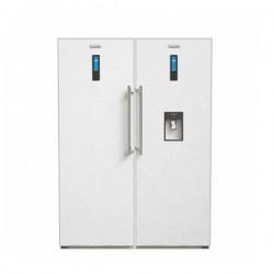 یخچال فریزر دو قلو الکترواستیل طرح 90 سفید چرمی مدل ES24