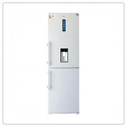 یخچال فریزر بالا و پایین الکترواستیل طرح سفید چرمی مدل ES27